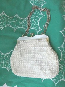 Vintage Beaded & Celluloid Purse