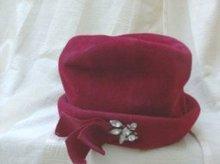 Vintage Red Ladies Hat