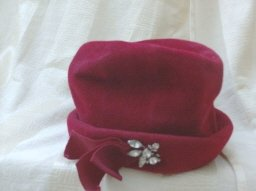 Vintage Red Ladies Hat