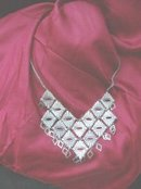 Silvertone Bib Necklace