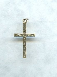 14 KT Gold Fill Cross Pendant w/Chain