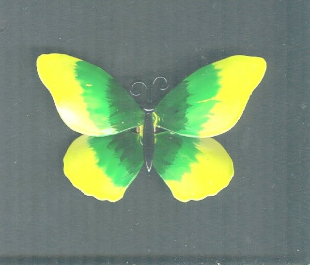 Large Vintage Enamel Butterfly Pin