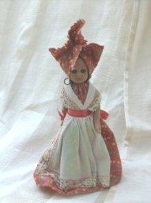 Vintage Hard Plastic Ethnic Doll