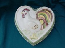 Ceramic Kitchen Mold w/Rooster Decoration