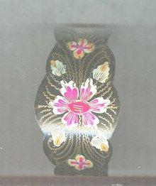 Vintage Wide Enamel Cuff Bracelet