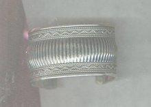 Vintage Wide Silvertone Cuff Bracelet