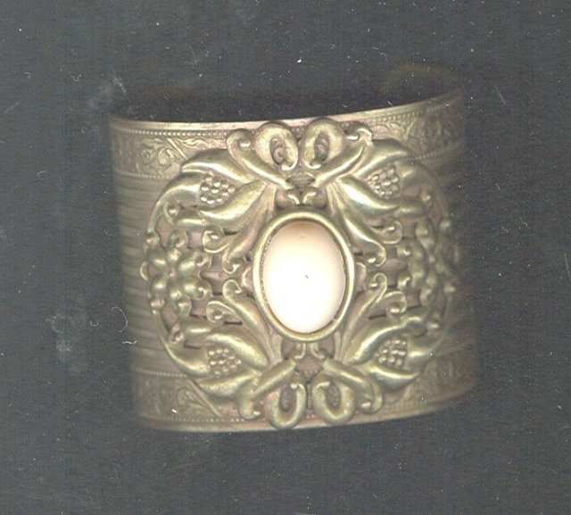Vintage Victorian Revival Cuff Bracelet