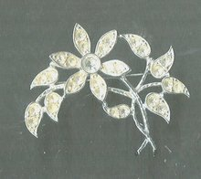 Vintage  Emmons Rhodium Plated Pin