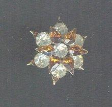 Vintage Amber Snowflake Pin