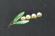 Vintage Austria Enamel Flower Pin