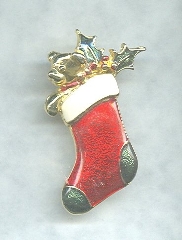Christmas Stocking Pin by SFJ