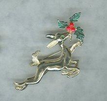 Vintage Christmas Reindeer Pin