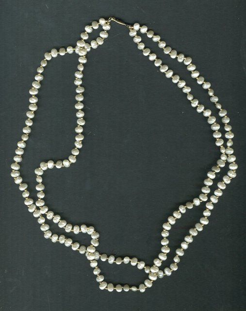 Vintage Baroque Seed Pearl Necklace