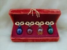 Vintage White Diamonds Miniature Perfume Boxed Set of 4  in Velvet Box