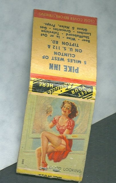 Vintage WWII Pin Up Girl Match Book