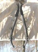 Antique Steel & Brass Hames