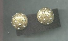 Vintage Ciner Dome Earrings