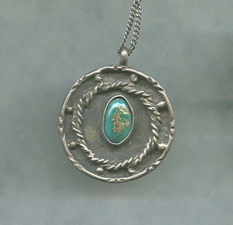 Handmade Silver  & Turquoise Pendant