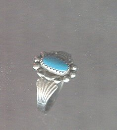 Small Sterling Silver & Turquoise Ring