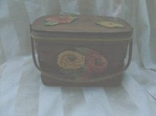 Vintage Wooden Basket Purse