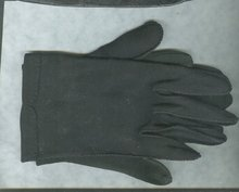 VintageLadies Black Leather Gloves