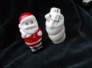 Vintage Holt Howard Santa & Gift Bag Christmas Salt & Pepper Shakers