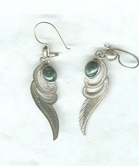 Vintage Silver & Turquoise Earrings