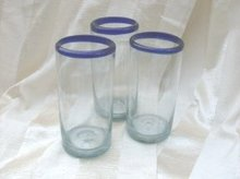 Vintage Hand Blown Tumbler  ** Set of 8 **