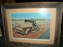 Vintage Truck Signed & Numbered Print  w/Old Barn Wood Frame