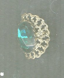 Vintage Huge Green Oval Stone Ring