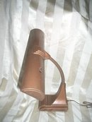 Vintage Metal Art Deco Desk Lamp