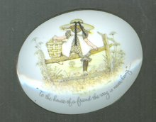 Vintage  Holly Hobbie Porcelain Plaque
