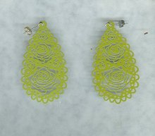 Large Enamel Dangle Earrings