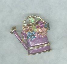 Vintage Enamel Watercan Pin