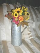 Tall Aluminum Container w/Flowers