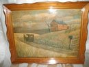 Vintage Framed Amish Country Picture