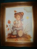 Vintage Framed Pair of Hummel Figurine Pictures
