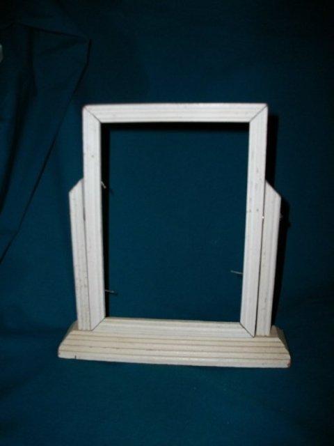 Vintage Wooden  Pedestal Frame
