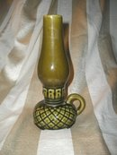 Vintage Ceramic Kerosene Lamp Vase
