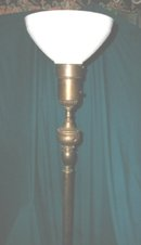 Vintage Floor Lamp w/Original Glass Shade