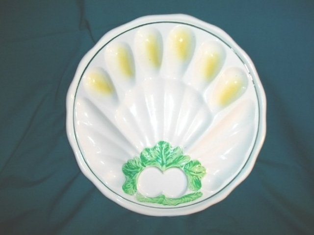 Vintage Ceramic Egg & Vegetable Plate