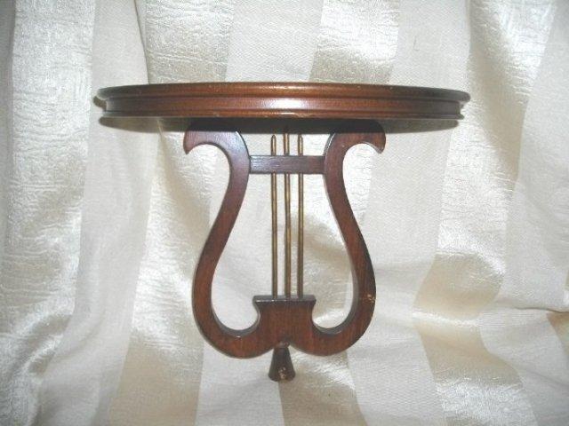 Vintage Wooden Harp Shelf