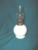 Vintage Hobnail Miniature Oil Lamp