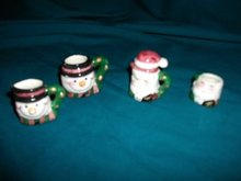 Miniature Santa Tea Set