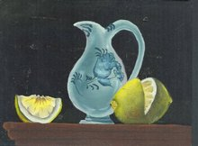 Antique Folk Art Fruit Painting