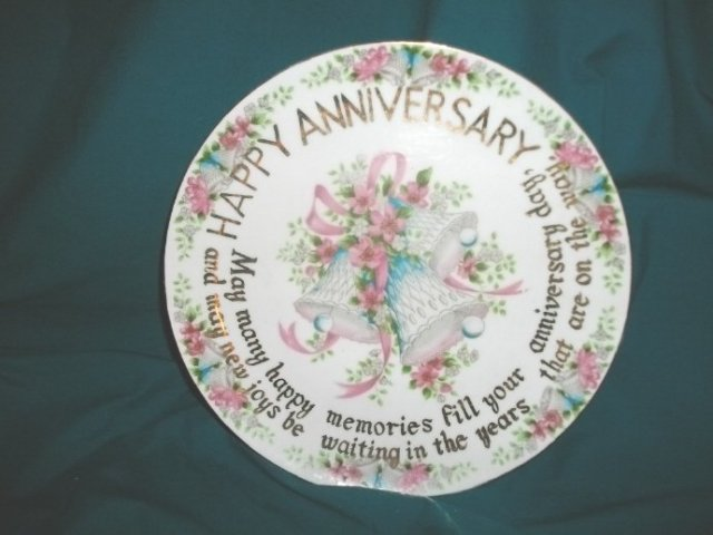 Vintage Wedding  Anniversary Plate