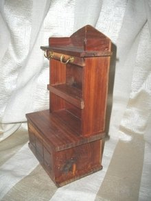 Vintage Hand Made Cedar Doll Hutch