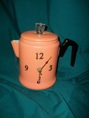 Vintage Coffee Pot Kitchen Clock
