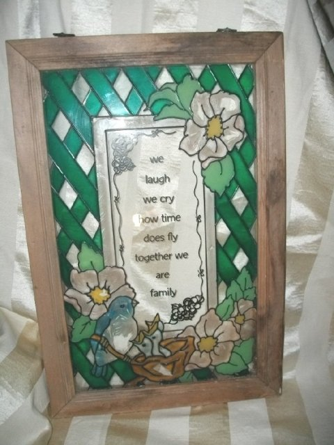 Framed Glass Birds w/Verse **LOOK**