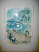 Vintage Haiwaiin Fishing Print